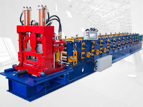 Auto interchangeable CZ purlin roll forming machine
