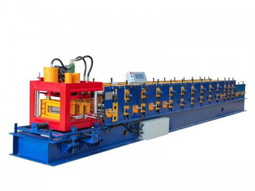 Mould cutting type C purlin roll forming machine