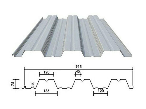 XDL-001 floor decking profile drawing
